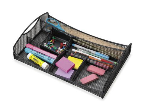 Safco 3262BL   Onyx Mesh Drawer Organizer - Black