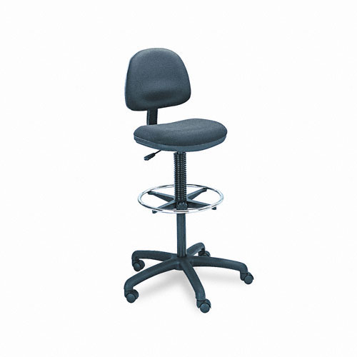 Safco 3401BL Precision Extended Height Chair with Foot Ring in Black
