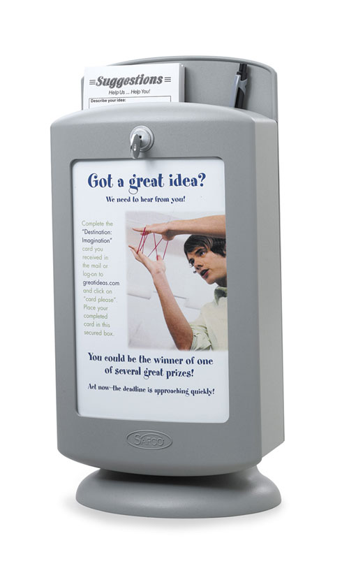 Safco  4233GR   Suggestion Box - Gray