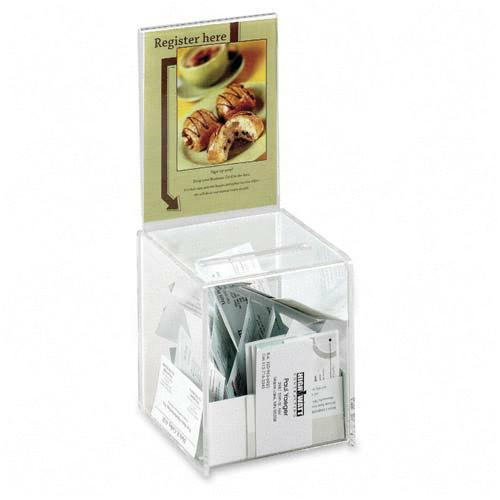 Safco  4235CL   Small Acrylic Collection Box