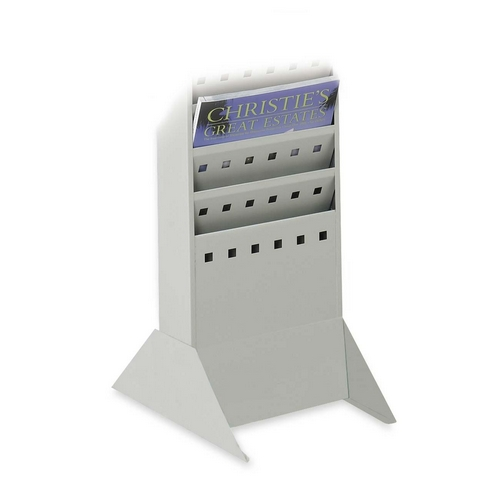 Safco  4323GR   Base For Steel Magazine Rack - Gray