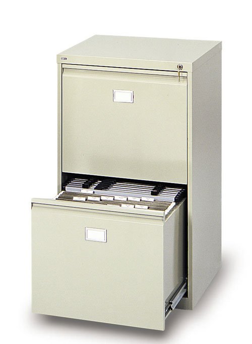 Safco 5039 Tropic Sand 2-Drawer Vertical File Cabinet