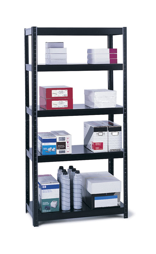 Safco 5245BL Boltless 36 x 18 Shelving in Black