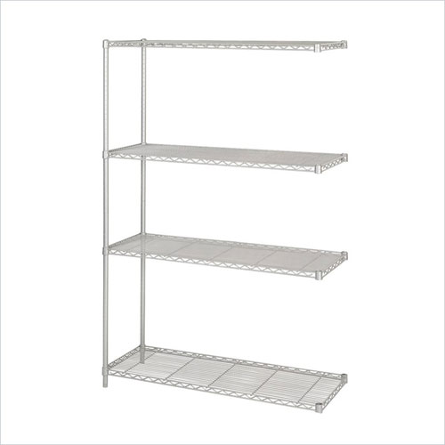 Safco 5292GR 18 x 48 Inch Wire Add On Unit in Gray