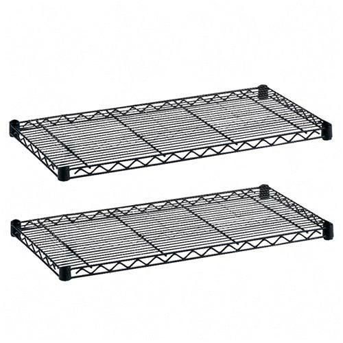 Safco 5293BL 18 x 48 Inch Wire 2 Shelf Pack in Black