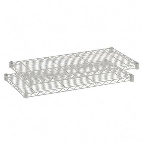 Safco 5293GR 18 x 48 Inch Wire 2 Shelf Pack in Gray