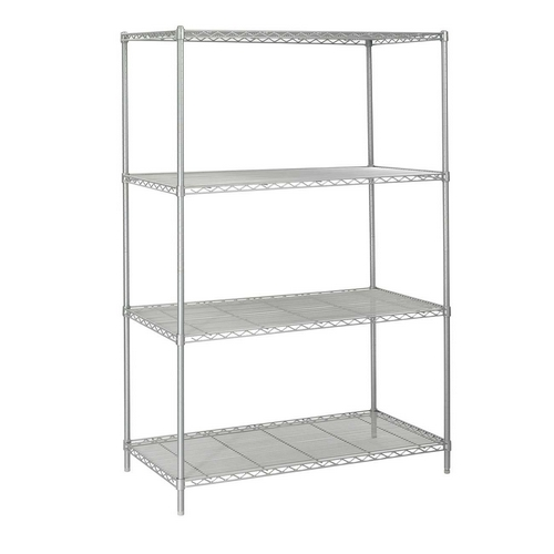 Safco 5294GR 24 x 48 Inch Wire Shelving Starter Unit in Gray