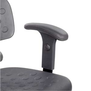 Safco 6683 - Rubberized Adjustable T-Pad Arms