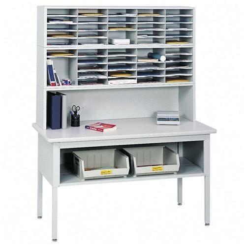 Safco 7749GR   Sorting Table Base - Shelf - Gray
