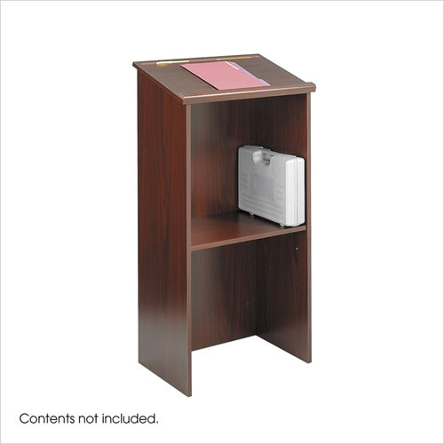 Safco 8915MH Stand-Up Lectern -Mahogany