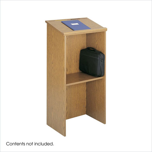 Safco 8915MO Stand-Up Lectern - Medium Oak