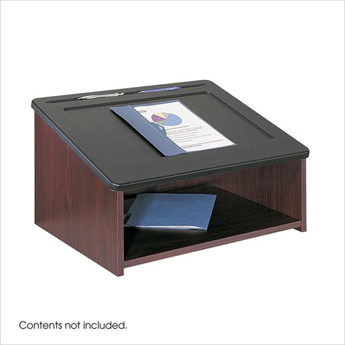Safco 8916MH Table Top Lectern - Mahogany