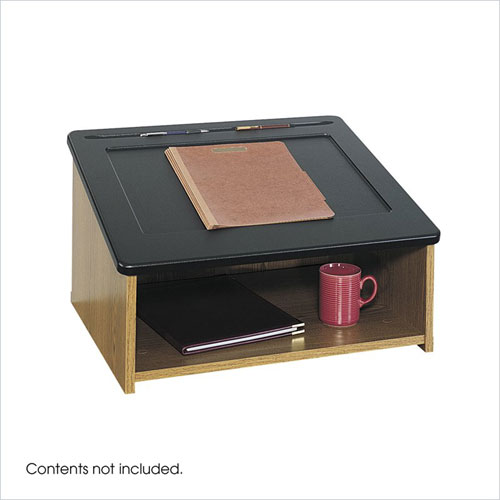 Safco 8916MO Table Top Lectern - Medium Oak