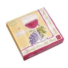 Sisson Imports 9003 - Jill Butler Wine Beverage Napkin - 12 Per Case