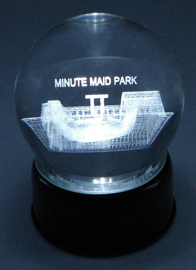 Paragon Innovations Co MinuteMaidLES MinuteMaid Park Etched In Crystal Ball Base Musical amp; Lit. Plays 