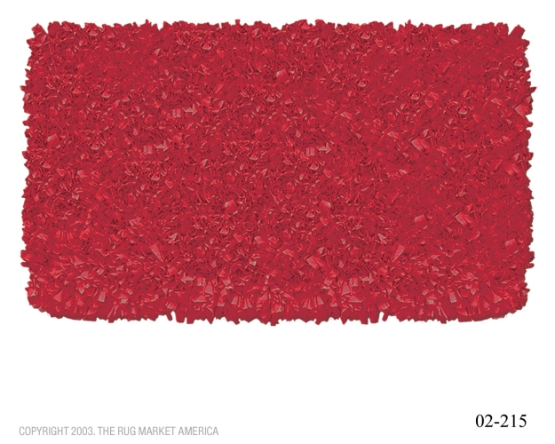 The Rug Market 02215B 4-SHAGGY RAGGY RED RED 2.8X4.8