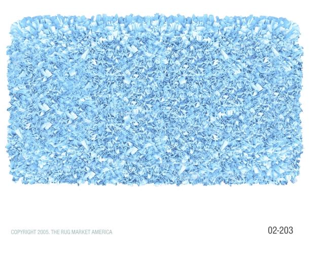 The Rug Market 02203R 4-SHAGGY RAGGY L-BLUE L-BLUE 4X4