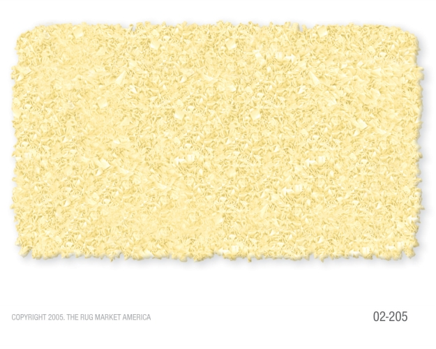 The Rug Market 02205R 4-SHAGGY RAGGY YELLOW YELLOW 4X4