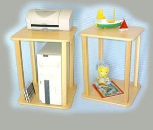 Wild Zoo Furniture Stnd wht/yel-wz CPU - Printer Stand  in White with Yellow Trim