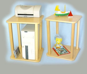 Wild Zoo Furniture Stnd mpl/wht-wz CPU - Printer Stand  in Maple with White Trim at Sears.com