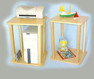 Wild Zoo Furniture Stnd mpl/grn-wz CPU  Printer Stand  in Maple with Green Trim