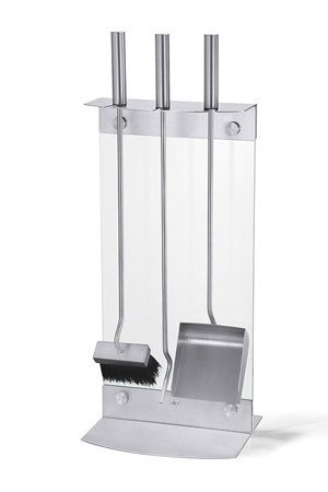 Zack 50015 Scinta 3 Piece Fire Tool Set- Stainless Steal