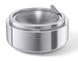 Zack 50162 Contas Tipping Ashtray- Stainless Steal