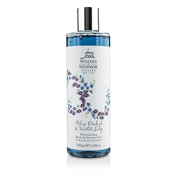 Woods Of Windsor 191649 Blue Orchid & Water Lily Moisturising Bath & Shower Gel, 350 ml-11.8 oz