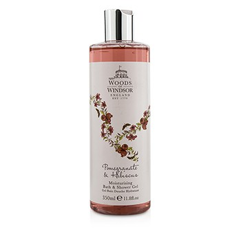 Woods Of Windsor 191659 Pomegranate & Hibiscus Moisturising Bath & Shower Gel, 350 ml-11.8 oz
