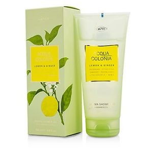 4711 195031 Acqua Colonia Lemon & Ginger Aroma Shower Gel for Men, 200 ml-6.8 oz