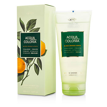 4711 195034 Acqua Colonia Blood Orange & Basil Aroma Shower Gel for Men, 200 ml-6.8 oz