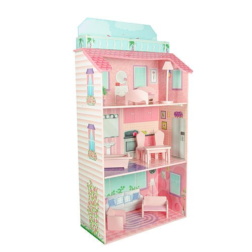 Teamson Design Corp TD-11919A Glamour Mansion Fold - In Doll House
