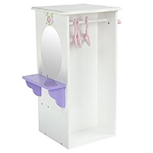 Teamson Design Corp TD-0094A Little Princess Doll Furniture - Dresser With 3 Hangers, 18 in.