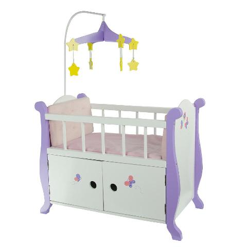 Teamson Design Corp TD-0206A Little Princess Doll Furniture - Baby Nursery Bed With Cabinet 18 in.