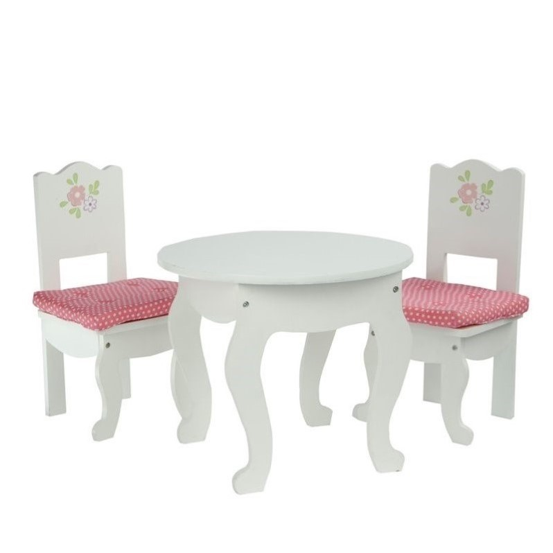 Teamson Design Corp TD-0208A Little Princess Doll Furniture - Table & 2 Chairs Set 18 in.