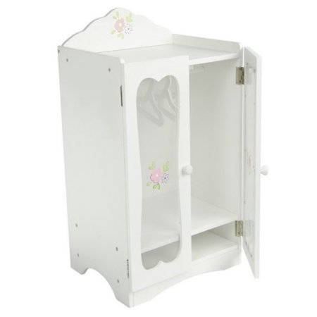 Teamson Design Corp TD-0209A Little Princess Doll Furniture - Classic Closet With Hangers 18 in.
