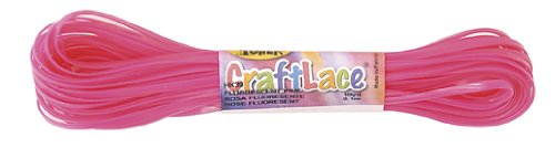 CraftLace Hank Fluorescent Pink - 10 yds - Pack of 24