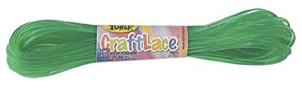 CraftLace Hank Fluorescent Green with Dark - 9 yds - Pack of 24