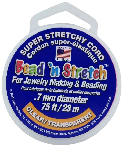 Bead N Stretch Clear - 1 mm - Pack of 24