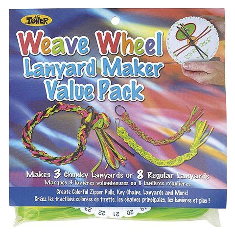 CraftLace Lanyard Maker Value Pack Weave Wheel - Pack of 24
