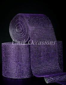 Unik Occasions Acrylic Cake Trimming, Purple