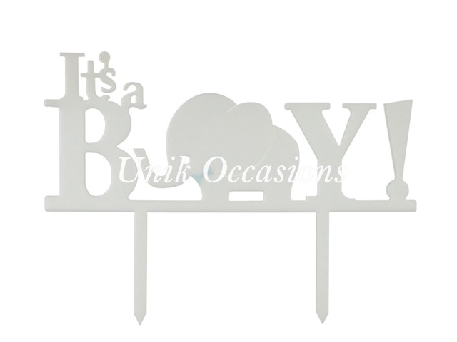 Unik Occasions Its A Boy Baby Acrylic Cake Topper