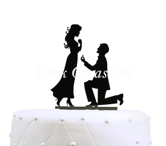 Unik Occasions Will You Marry Me Engagement Acrylic Cake Topper