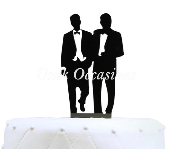 Unik Occasions Homosexual Gay Acrylic Wedding Cake Topper
