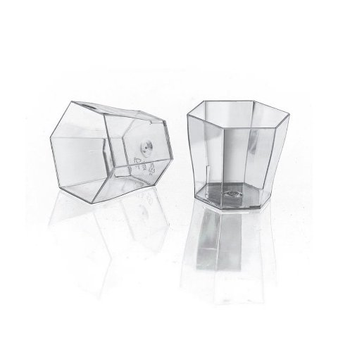 OnDisplay Hexagon Disposable Dessert Cups - 100 count
