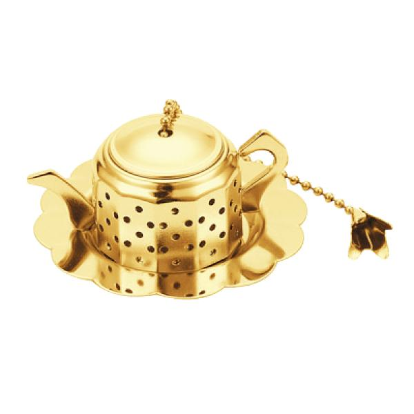 Paderno World Cuisine A4982413 Gold Plated Tea Infuser Teapot WDC11660
