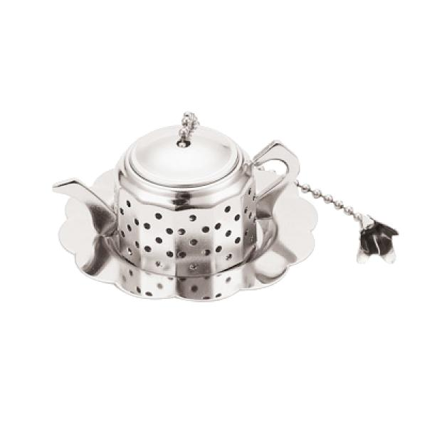 Paderno World Cuisine A4982415 Silver Plated Tea Infuser Teapot WDC11661