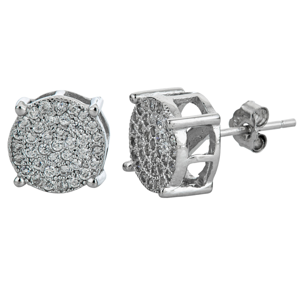 YGI GroupSSE304 Micropave Round Stud Earring with Cubic Zirconia