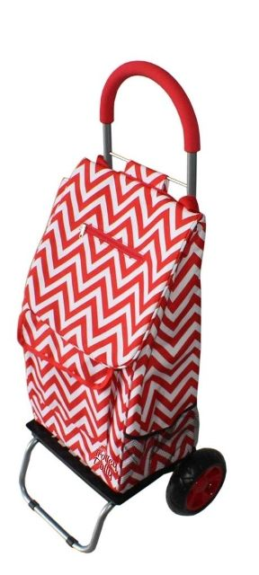 Dbest 01-585 Trendy Trolley Dolly - Red Chevron