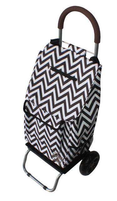 Dbest 01-586 Trendy Trolley Dolly - Black Chevron
